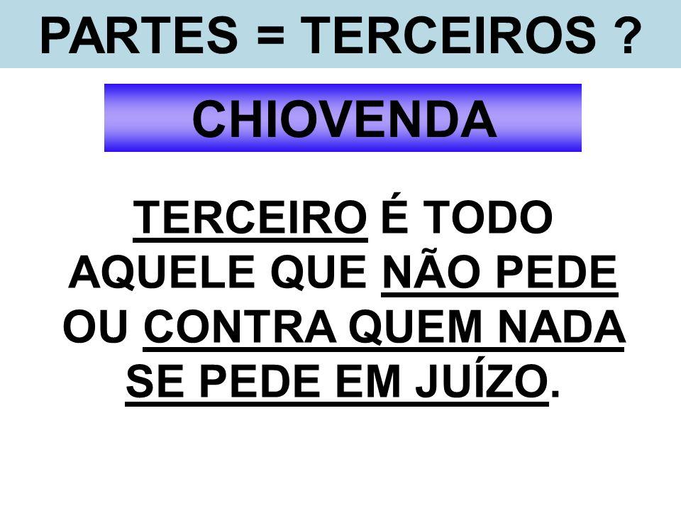 PARTES = TERCEIROS CHIOVENDA