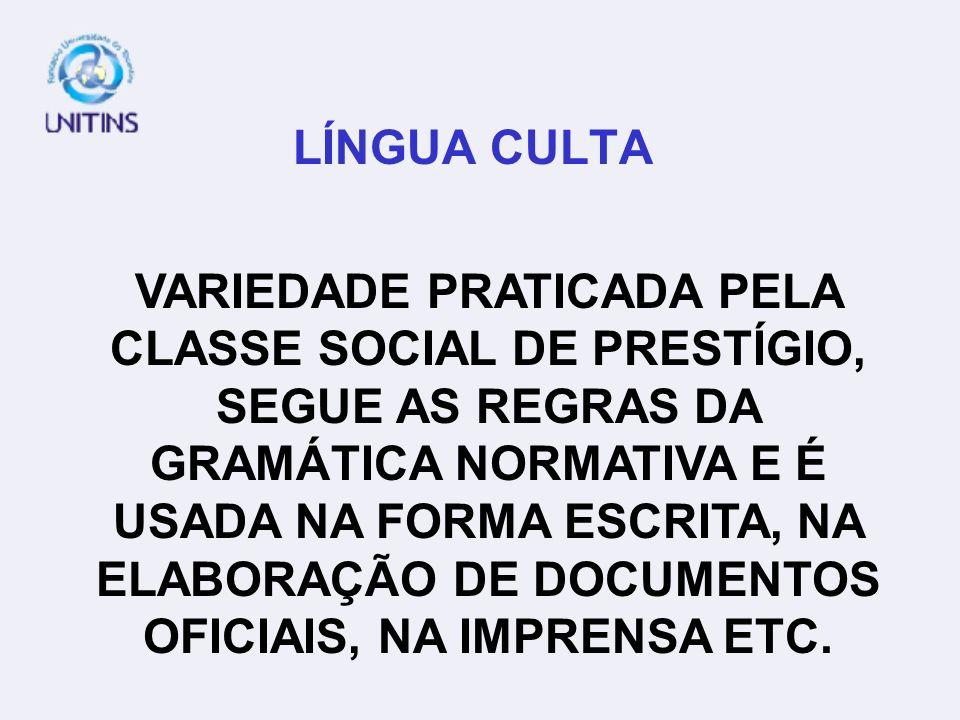 LÍNGUA CULTA
