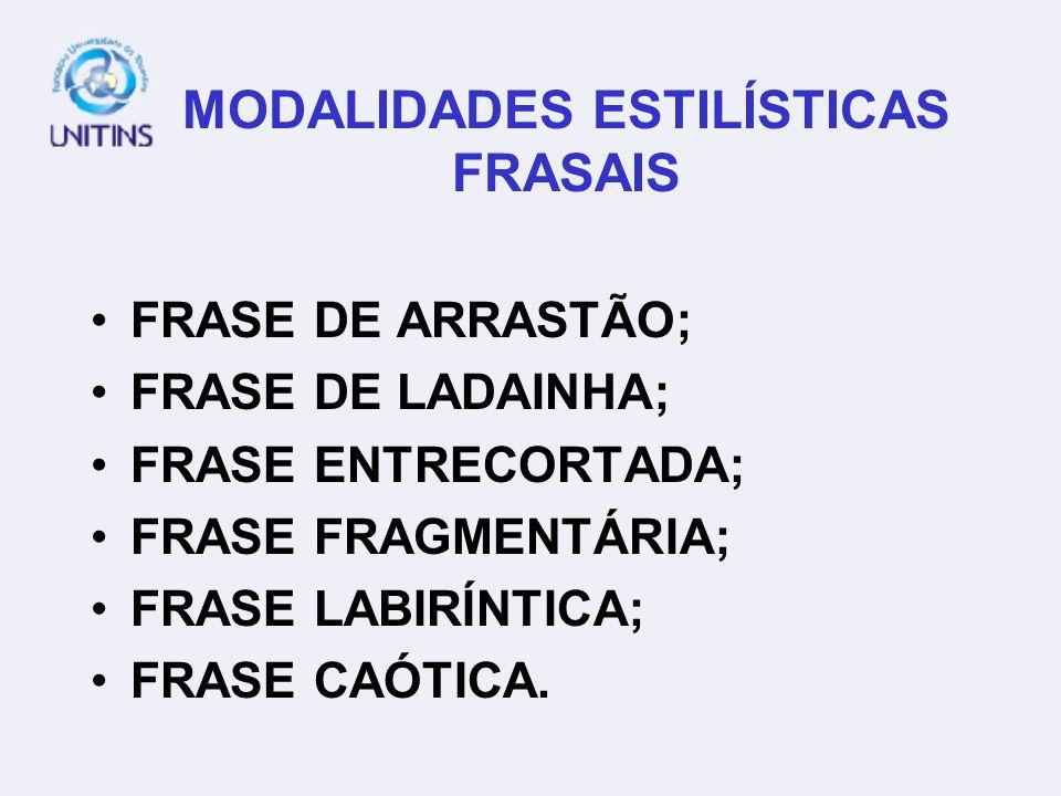 MODALIDADES ESTILÍSTICAS FRASAIS