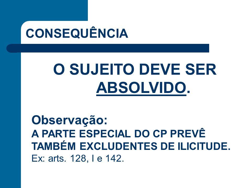 O SUJEITO DEVE SER ABSOLVIDO.