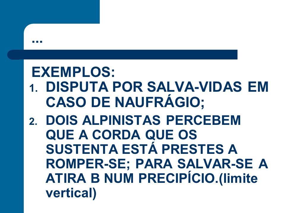 DISPUTA POR SALVA-VIDAS EM CASO DE NAUFRÁGIO;