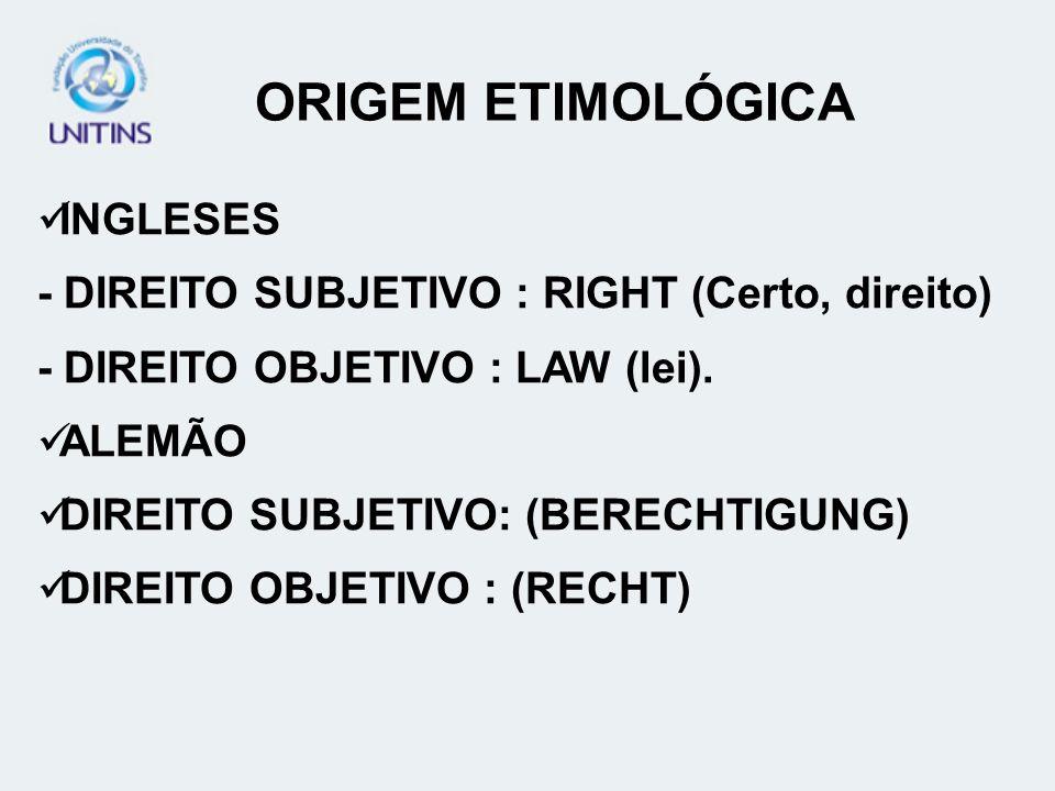 ORIGEM ETIMOLÓGICA INGLESES