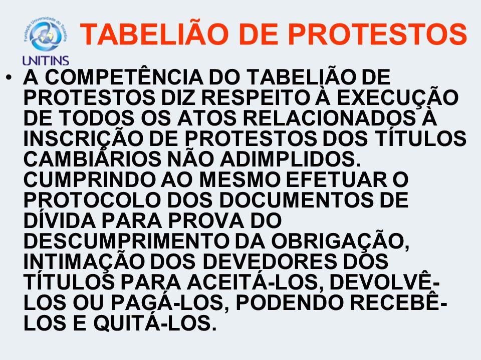 TABELIÃO DE PROTESTOS