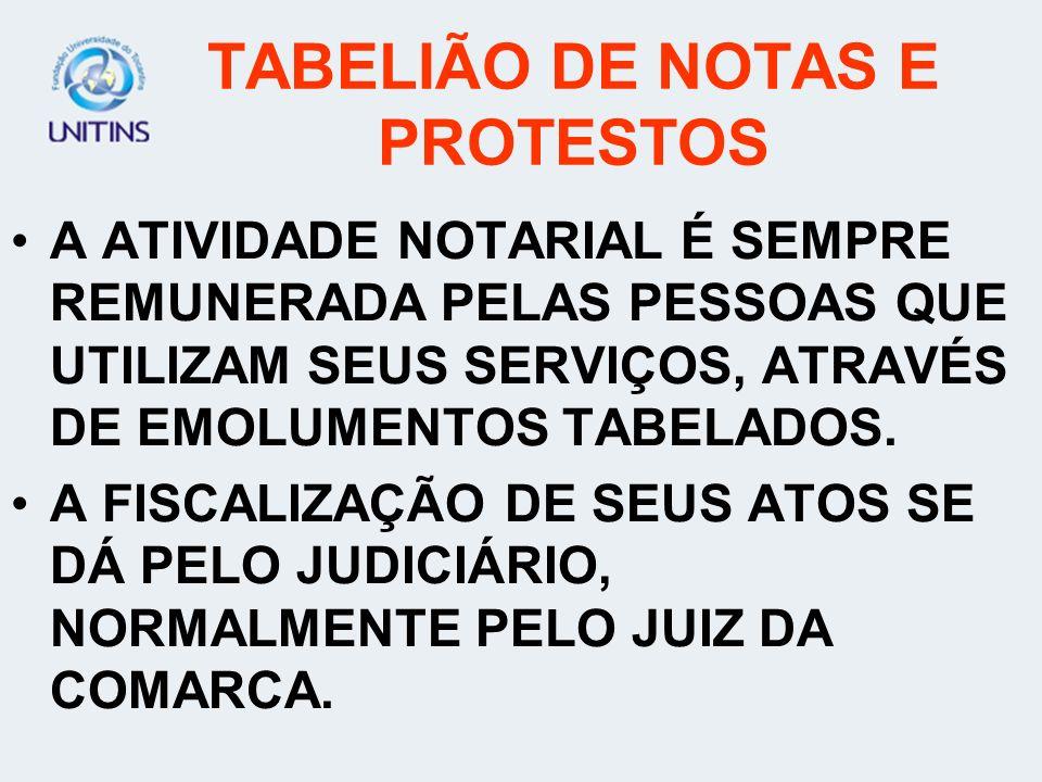 TABELIÃO DE NOTAS E PROTESTOS