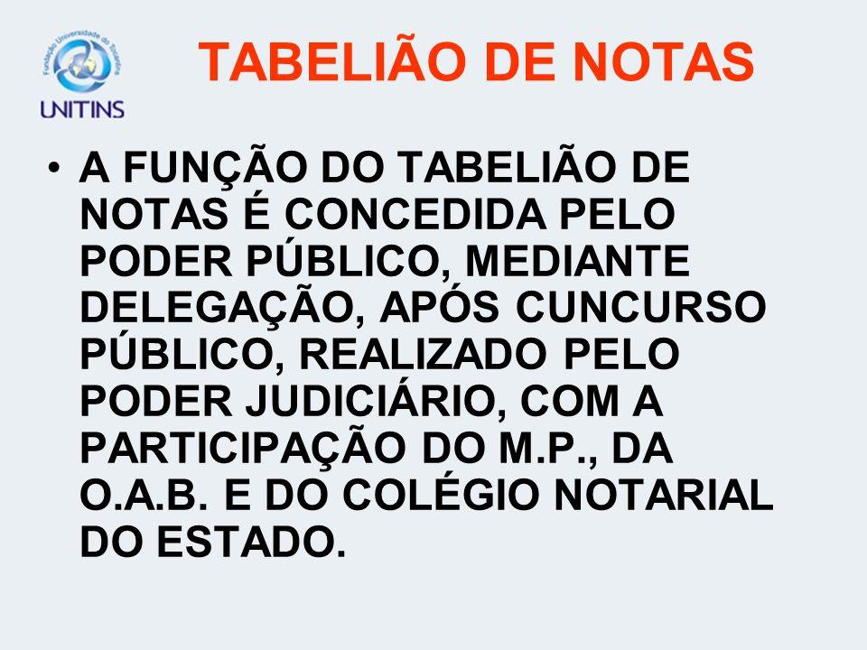 TABELIÃO DE NOTAS