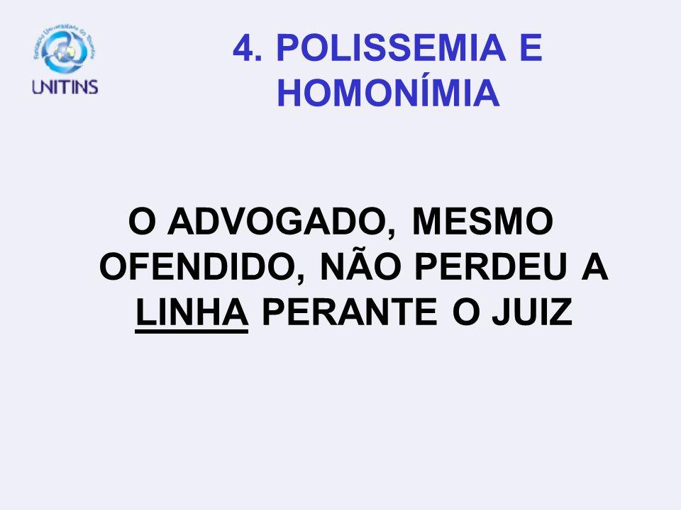 4. POLISSEMIA E HOMONÍMIA