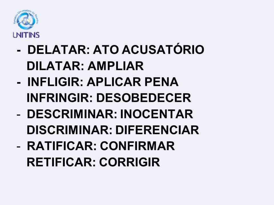 - DELATAR: ATO ACUSATÓRIO