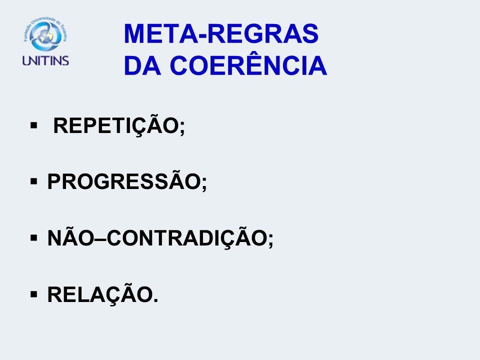 META-REGRAS DA COERÊNCIA