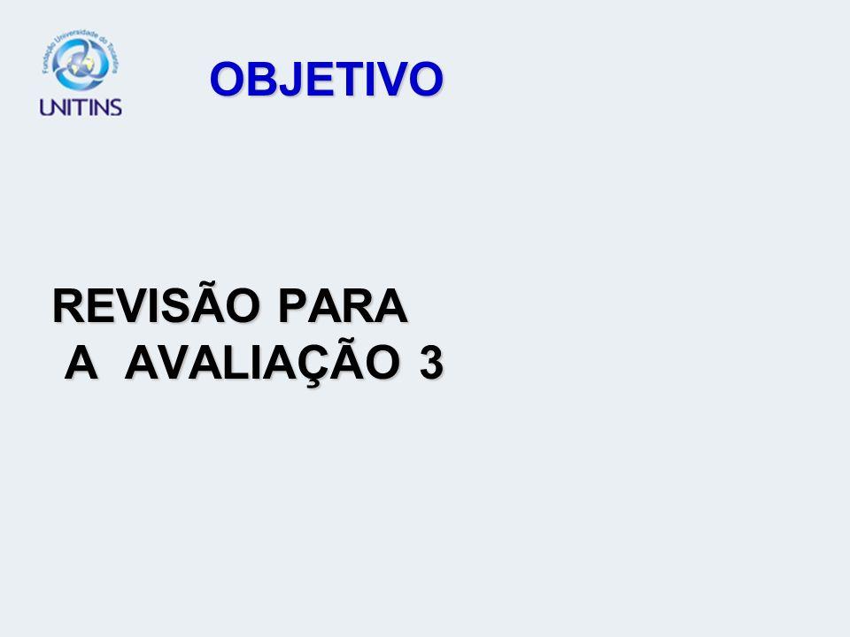OBJETIVO REVISÃO PARA A AVALIAÇÃO 3
