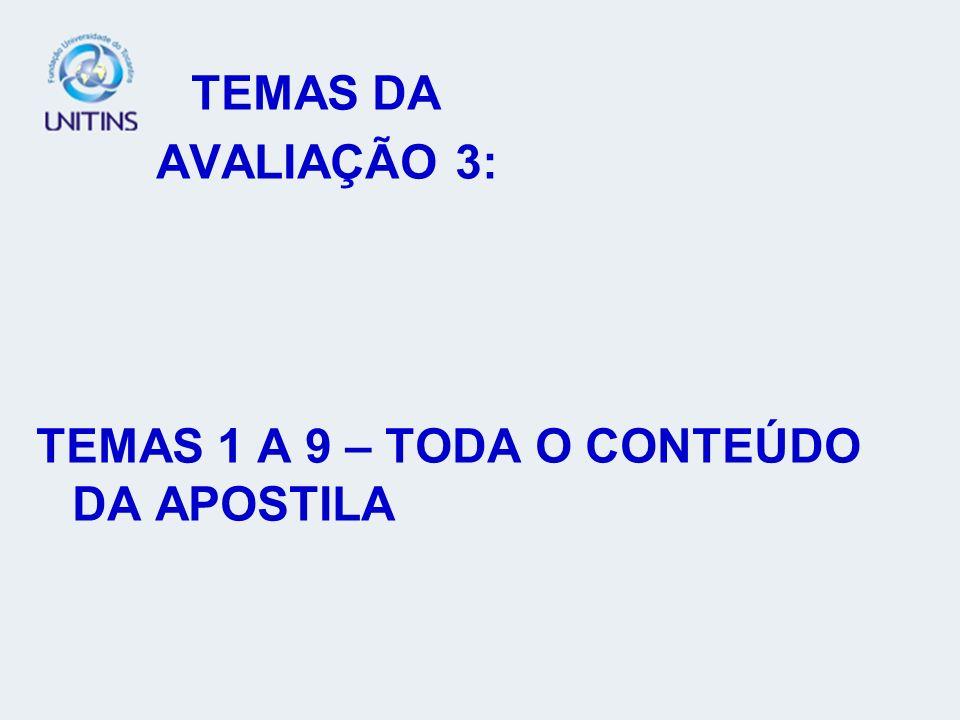 TEMAS 1 A 9 – TODA O CONTEÚDO DA APOSTILA