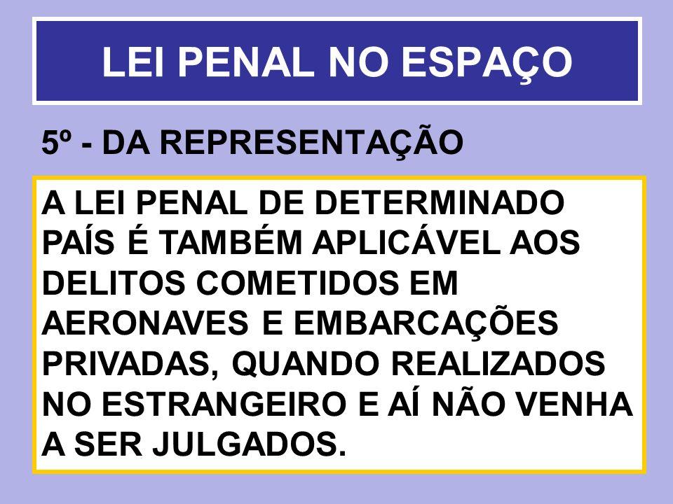 LEI PENAL NO ESPAÇO 5º - DA REPRESENTAÇÃO