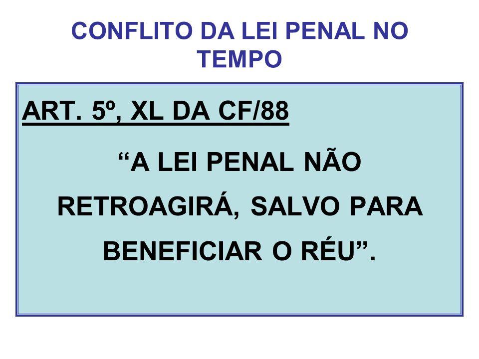 CONFLITO DA LEI PENAL NO TEMPO