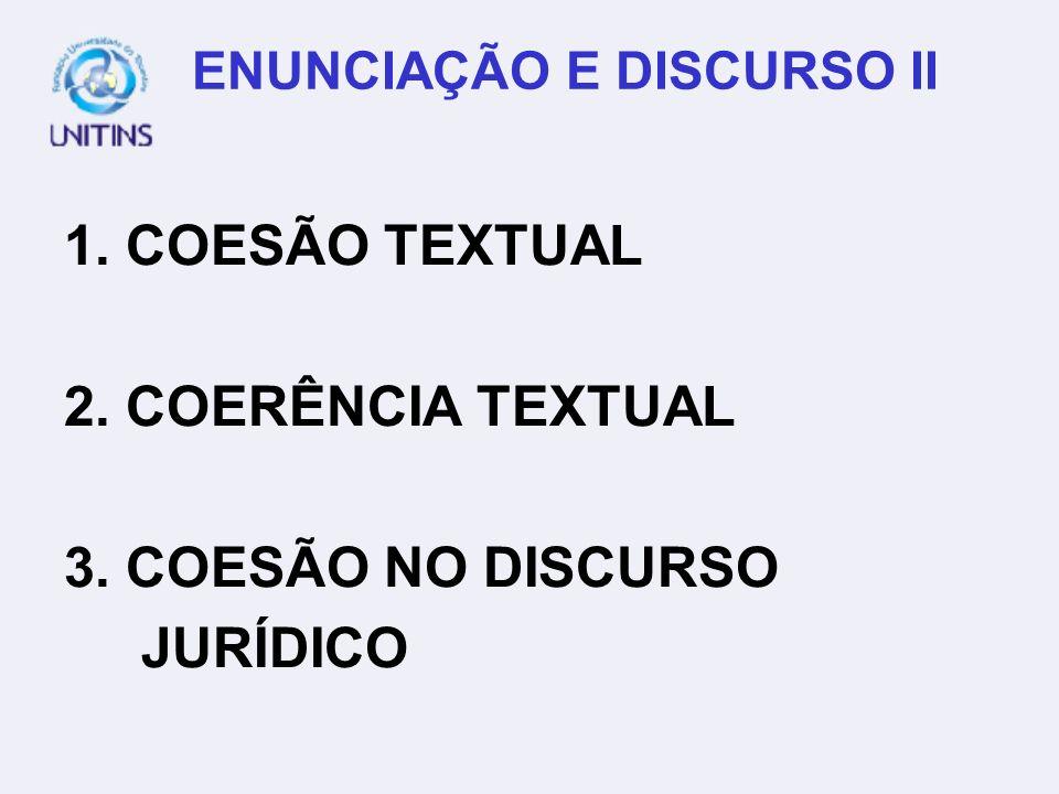 ENUNCIAÇÃO E DISCURSO II