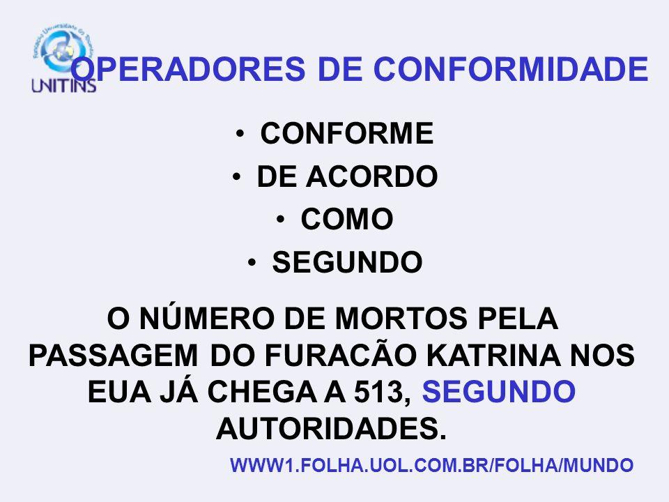 OPERADORES DE CONFORMIDADE