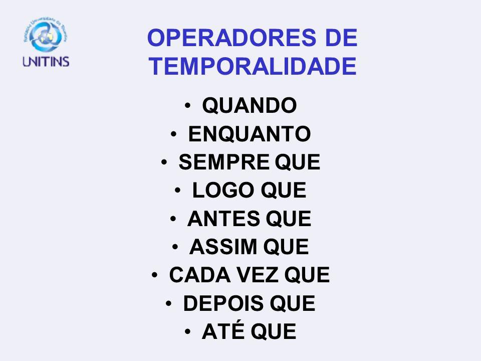 OPERADORES DE TEMPORALIDADE