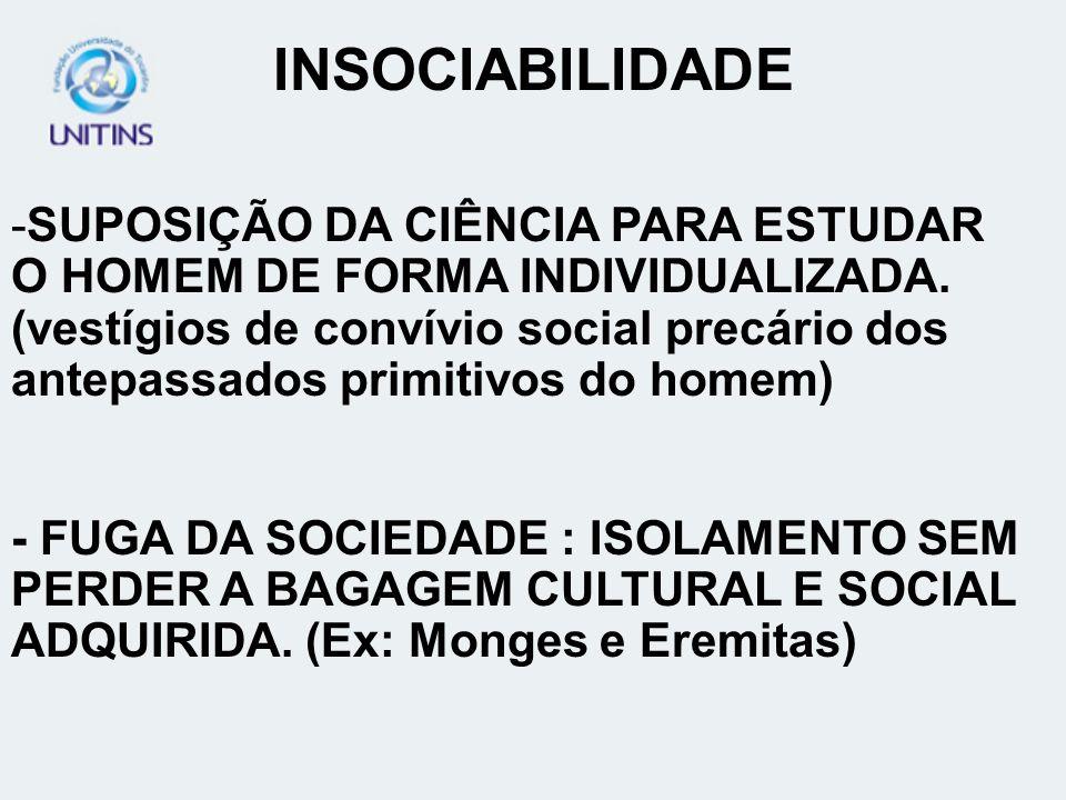 INSOCIABILIDADE