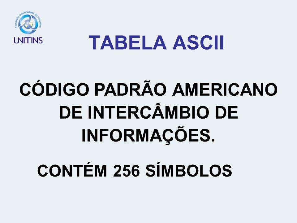 CÓDIGO PADRÃO AMERICANO DE INTERCÂMBIO DE INFORMAÇÕES.