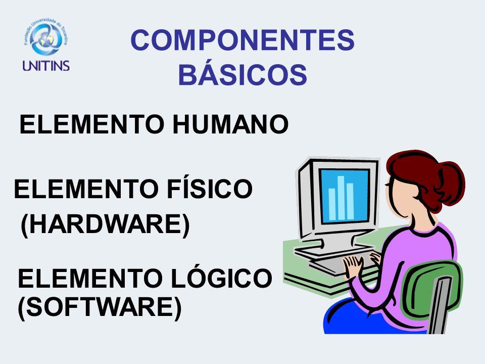COMPONENTES BÁSICOS ELEMENTO HUMANO ELEMENTO FÍSICO (HARDWARE)