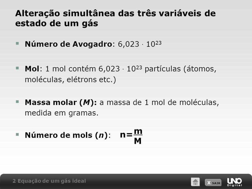 Alteração simultânea das três variáveis de estado de um gás