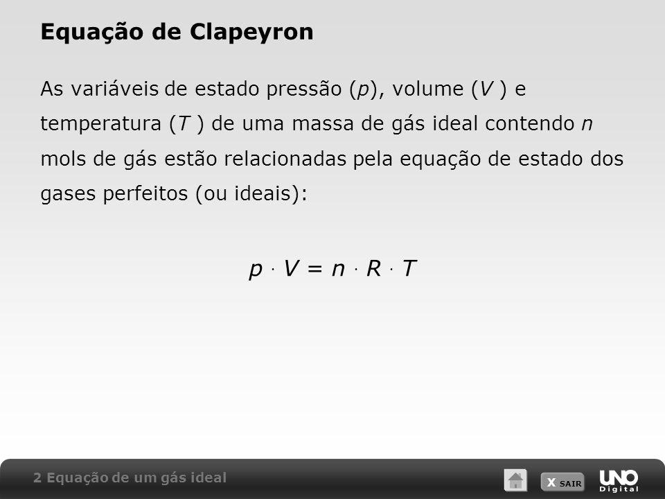 Equação de Clapeyron p  V = n  R  T
