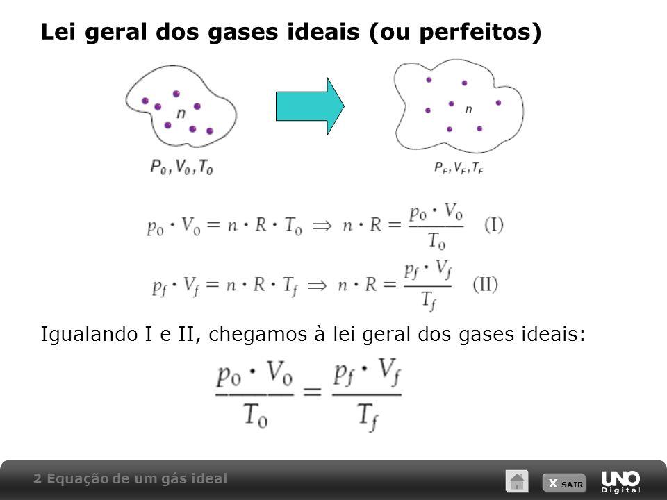 Lei geral dos gases ideais (ou perfeitos)