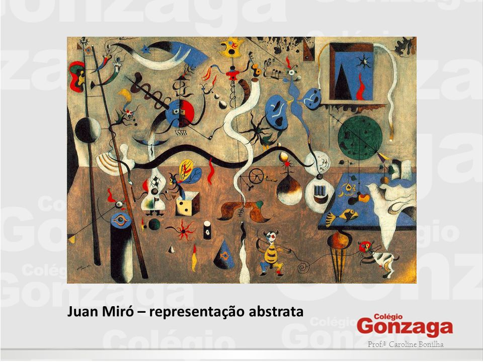 Juan Miró – representação abstrata