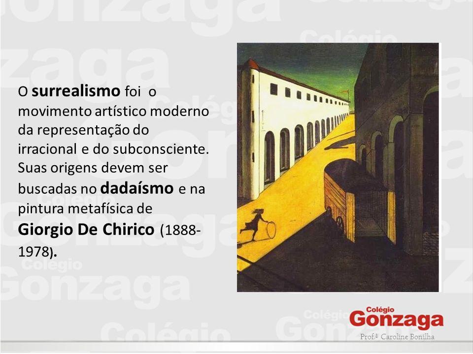 O surrealismo foi o movimento artístico moderno da representação do irracional e do subconsciente. Suas origens devem ser buscadas no dadaísmo e na pintura metafísica de
