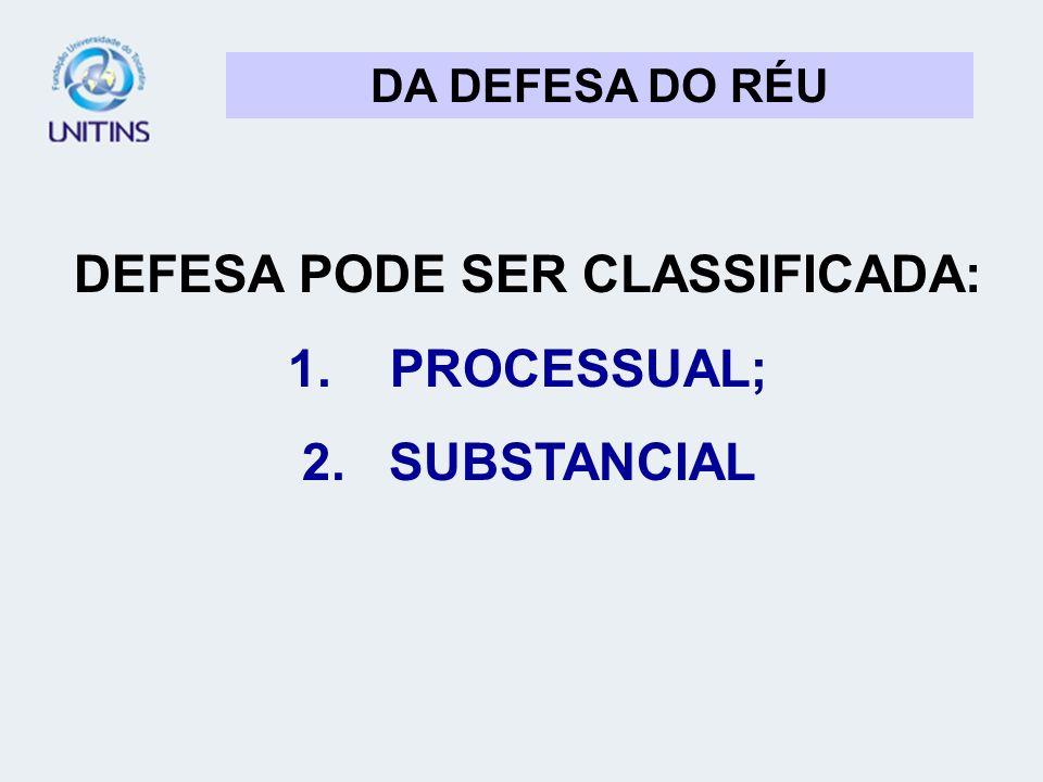 DEFESA PODE SER CLASSIFICADA: