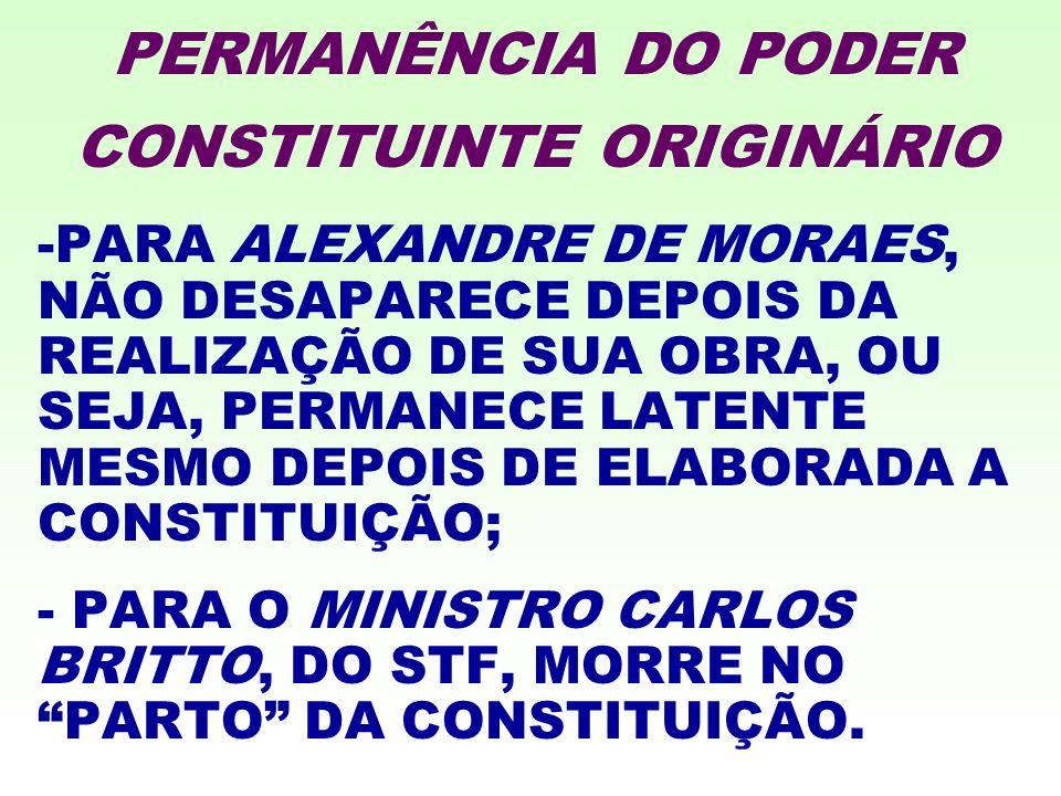PERMANÊNCIA DO PODER CONSTITUINTE ORIGINÁRIO