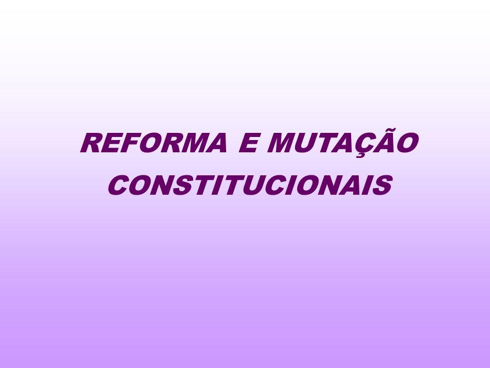 REFORMA E MUTAÇÃO CONSTITUCIONAIS