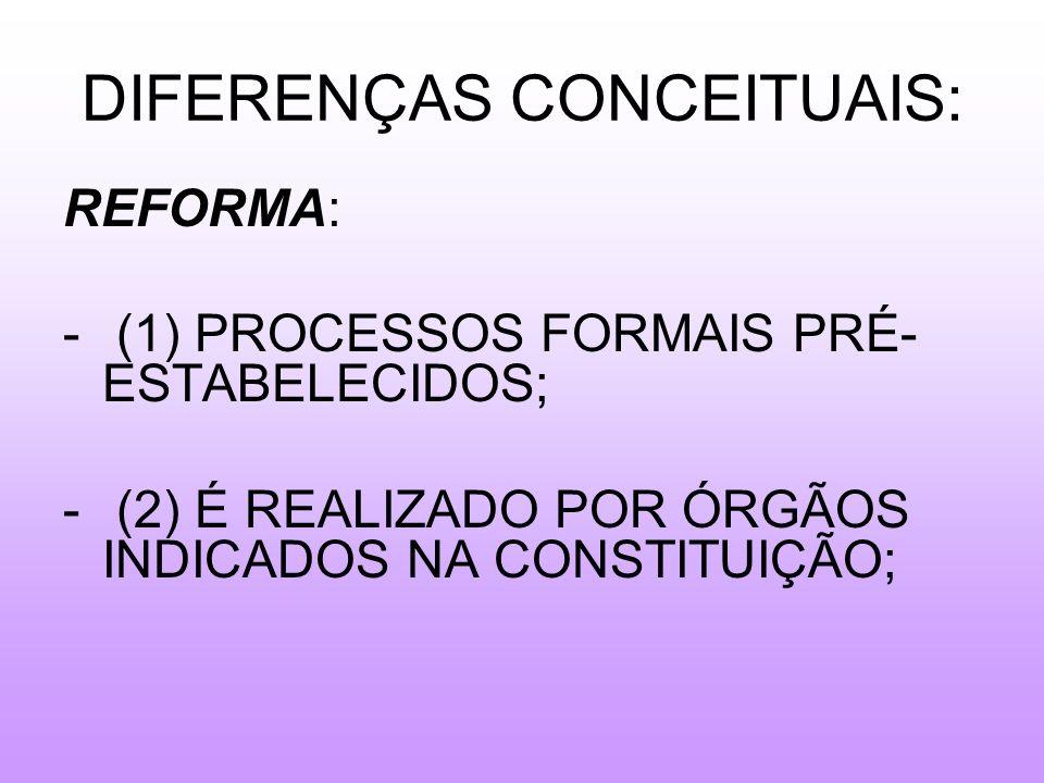 DIFERENÇAS CONCEITUAIS:
