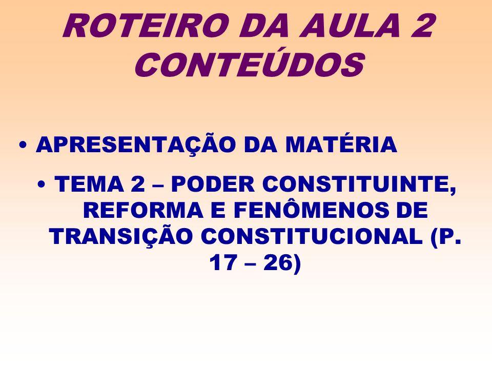 ROTEIRO DA AULA 2 CONTEÚDOS