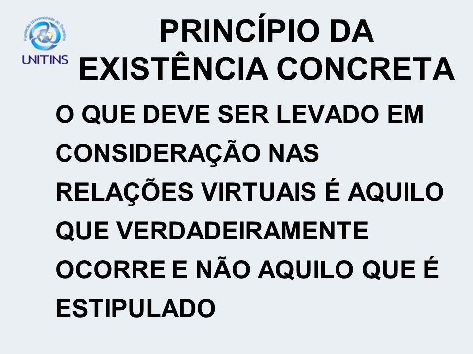 PRINCÍPIO DA EXISTÊNCIA CONCRETA