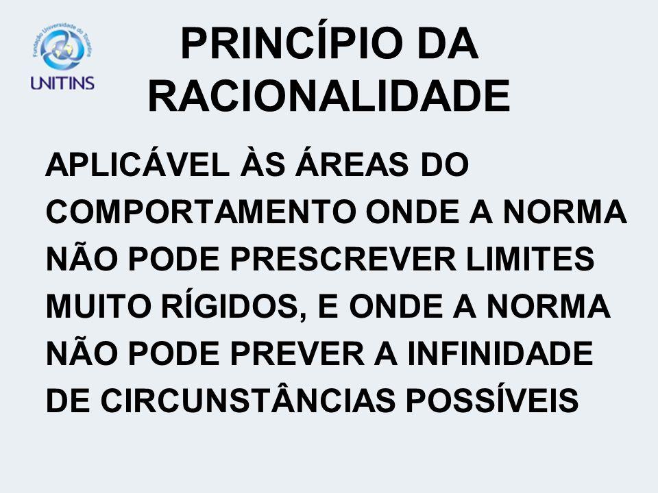 PRINCÍPIO DA RACIONALIDADE