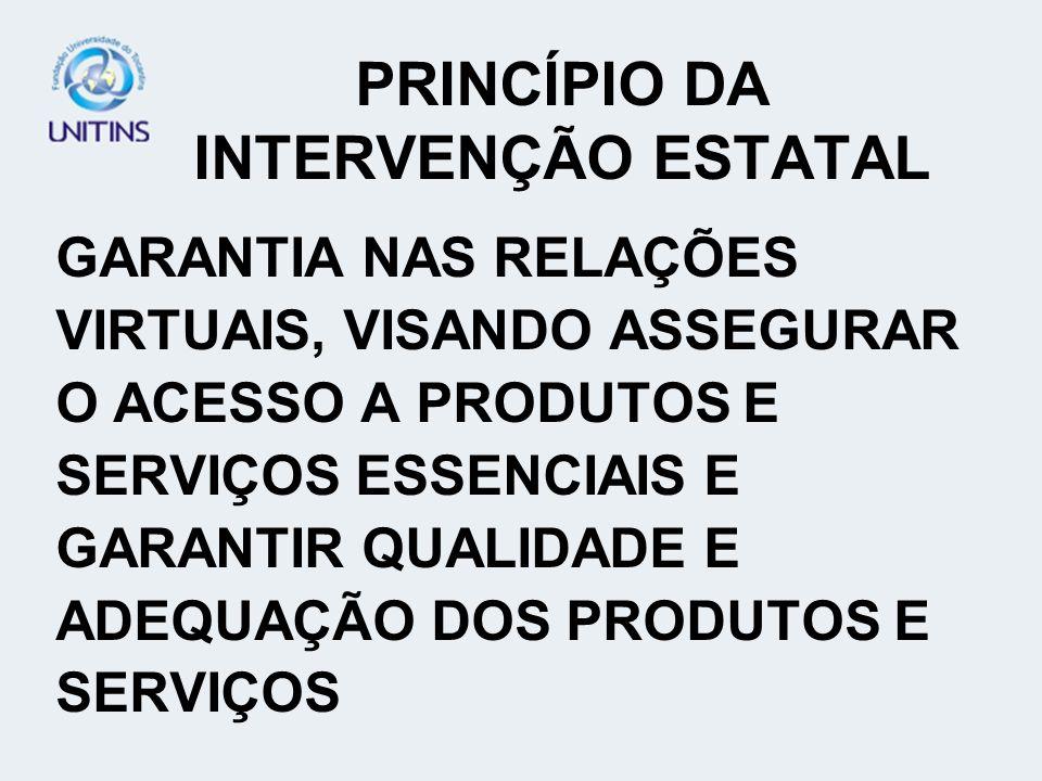 PRINCÍPIO DA INTERVENÇÃO ESTATAL