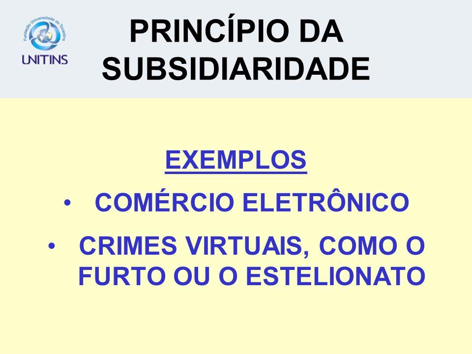 PRINCÍPIO DA SUBSIDIARIDADE