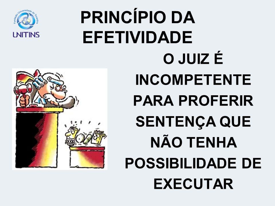 PRINCÍPIO DA EFETIVIDADE