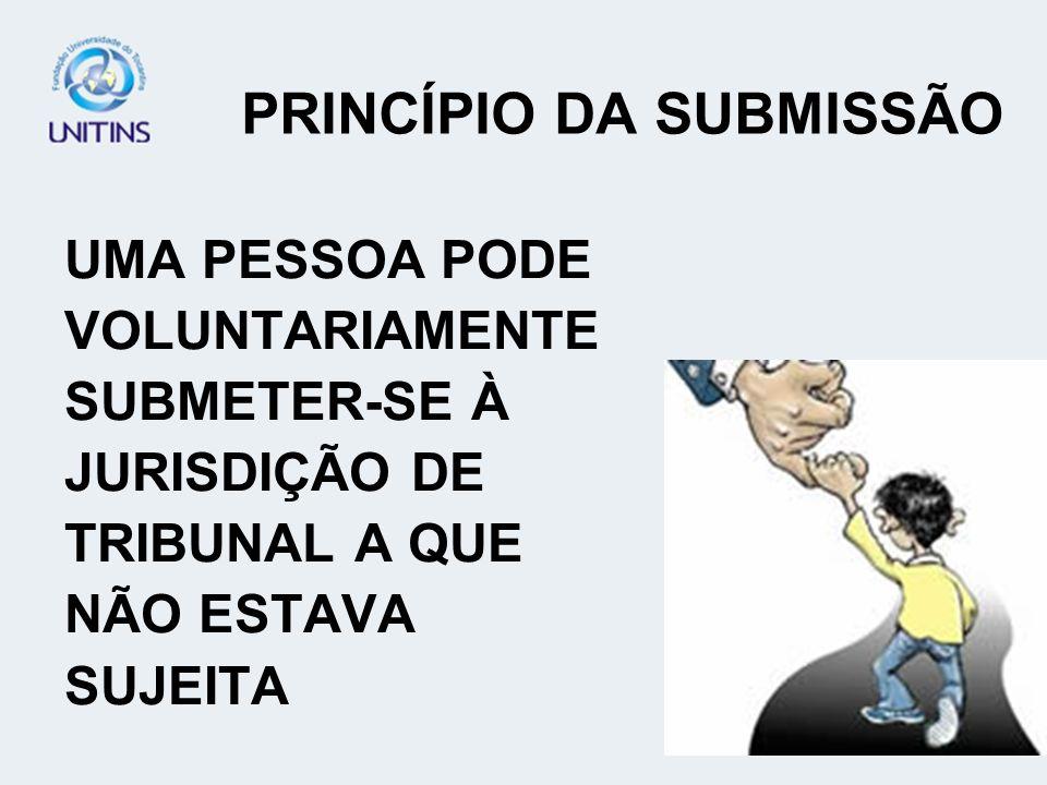 PRINCÍPIO DA SUBMISSÃO