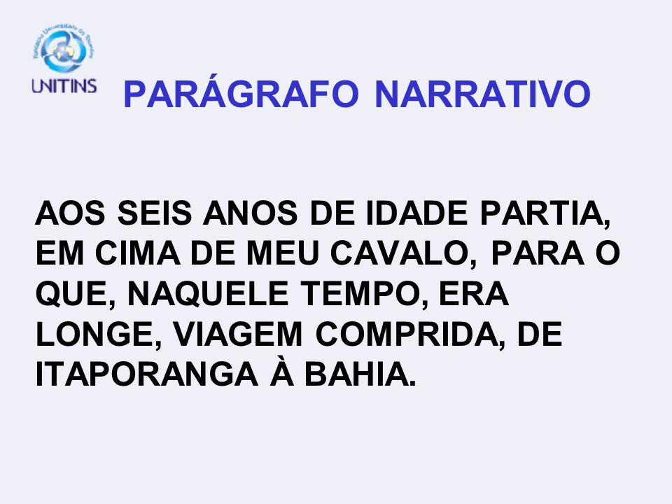 PARÁGRAFO NARRATIVO