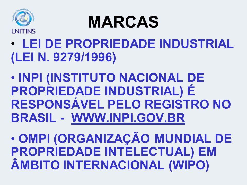 MARCAS LEI DE PROPRIEDADE INDUSTRIAL (LEI N. 9279/1996)