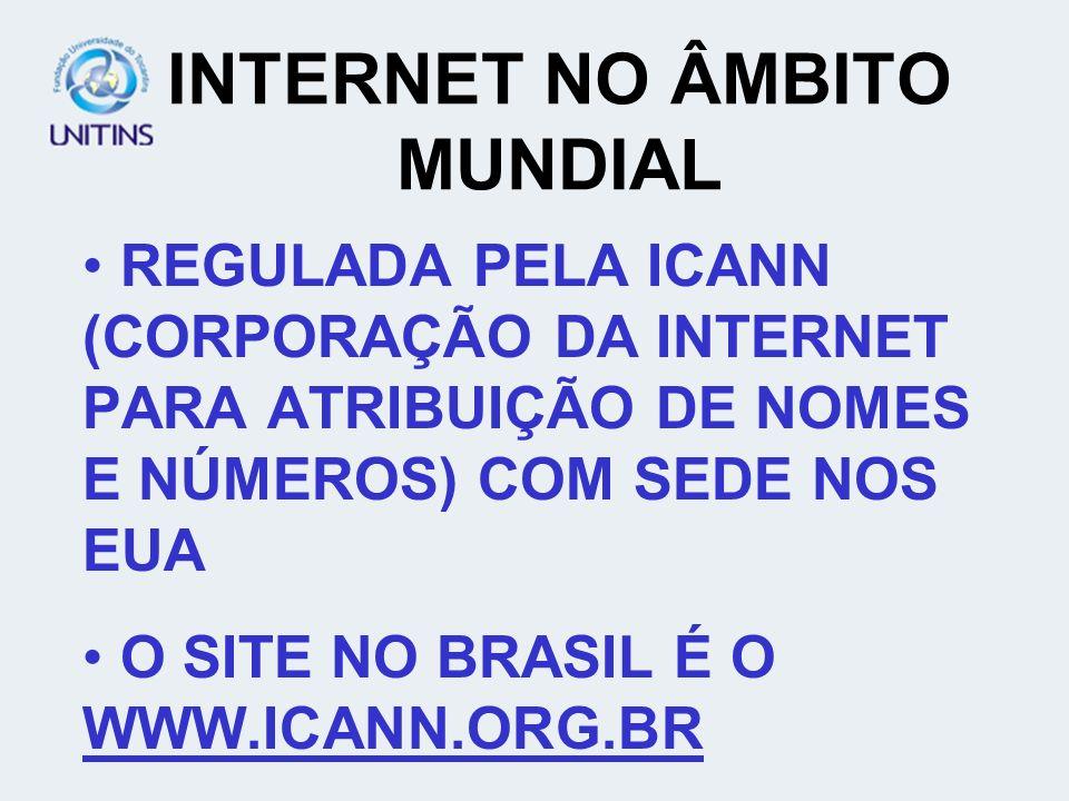 INTERNET NO ÂMBITO MUNDIAL