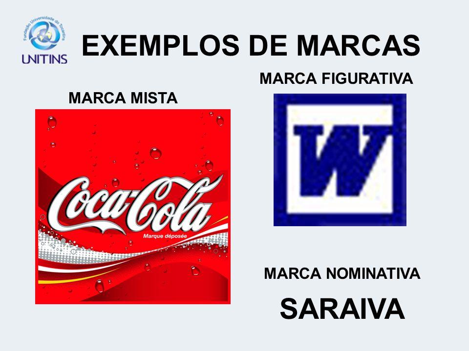 EXEMPLOS DE MARCAS SARAIVA
