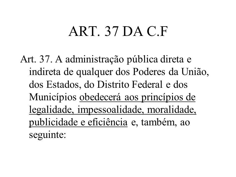 ART. 37 DA C.F
