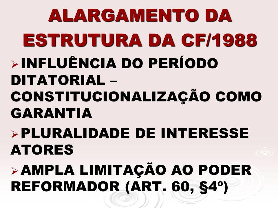 ALARGAMENTO DA ESTRUTURA DA CF/1988