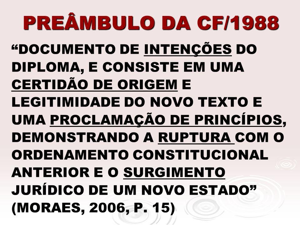 PREÂMBULO DA CF/1988