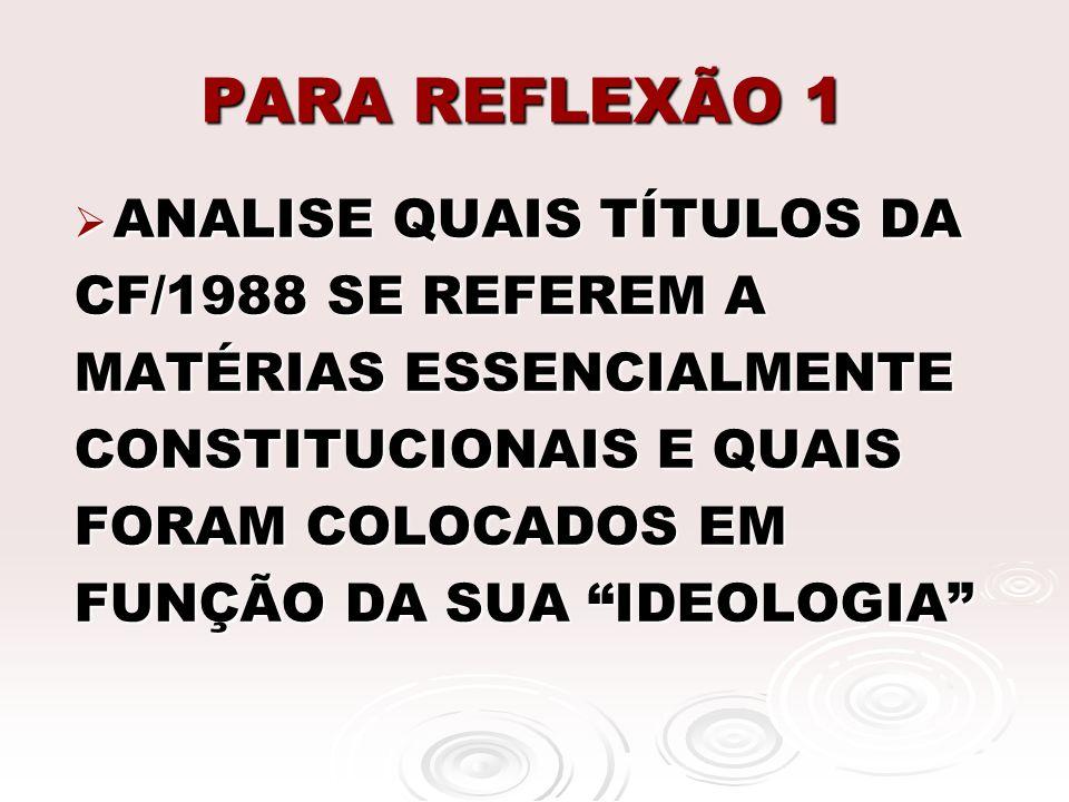 PARA REFLEXÃO 1