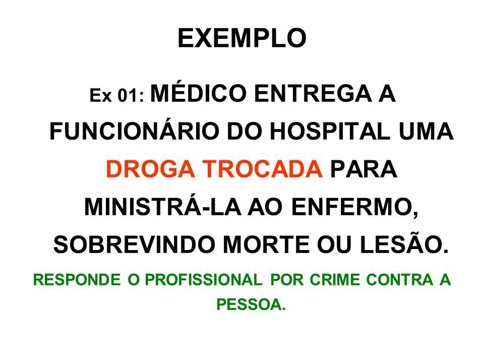 RESPONDE O PROFISSIONAL POR CRIME CONTRA A PESSOA.