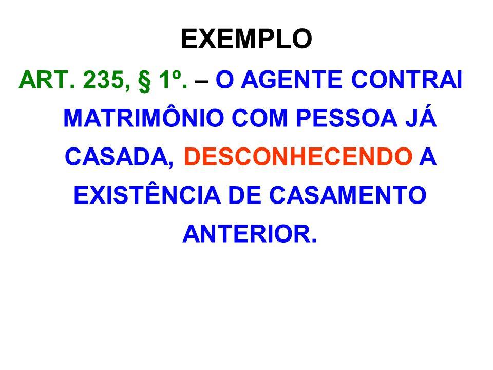 EXEMPLO ART. 235, § 1º.