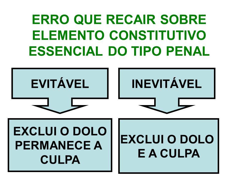 ERRO QUE RECAIR SOBRE ELEMENTO CONSTITUTIVO ESSENCIAL DO TIPO PENAL