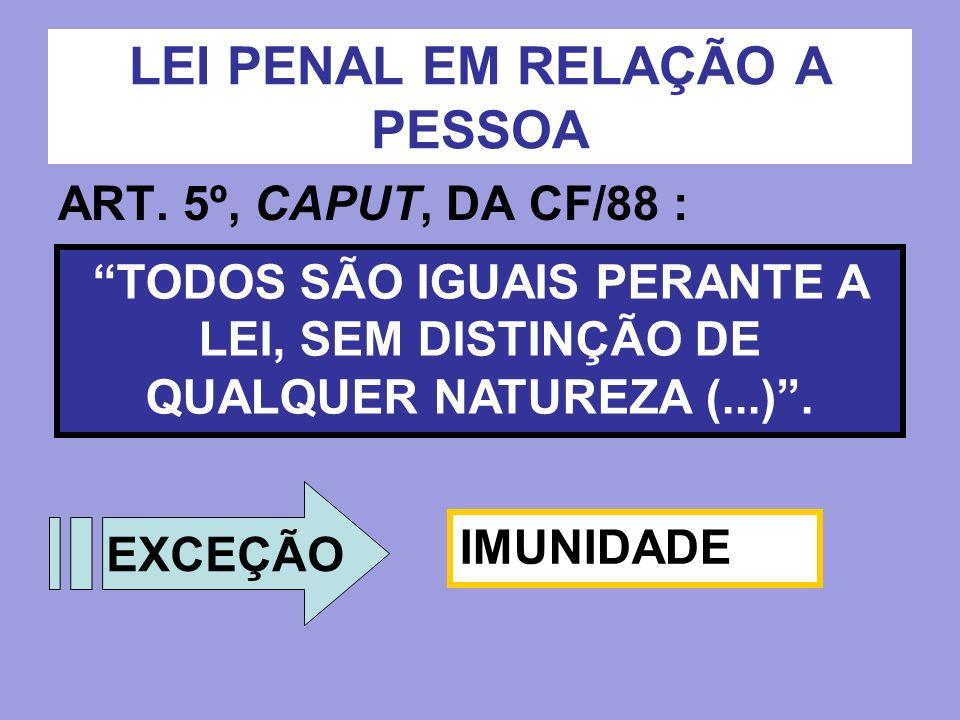 LEI PENAL EM RELAÇÃO A PESSOA